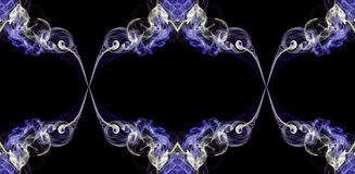 Violet and ecru abstract twisted smoke formed in circles royalty free stock photos