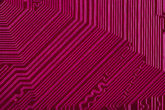Violet electronic circuit board Royalty Free Stock Photos
