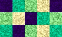 Violet, emerald, green and cream color marble texture, tile pattern royalty free illustration