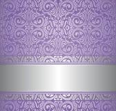 Violet en zilveren luxe uitstekend behang Stock Afbeeldingen