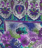 Violet etno fabric Stock Images
