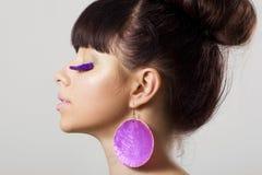 Violet eyelashes Royalty Free Stock Photos
