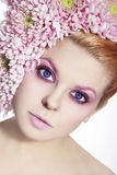 Violet eyes Royalty Free Stock Images