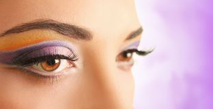 Violet eyeshadow Royalty Free Stock Photography