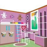 Violet för design för rum för barn` s Arkivbild