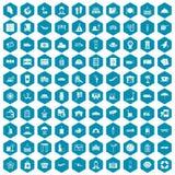 violet för sapphirine för 100 bagagesymboler Fotografering för Bildbyråer