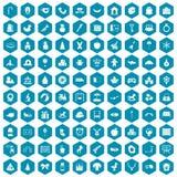 violet för sapphirine för 100 daghemsymboler Arkivbild