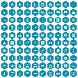 violet för sapphirine för 100 förseelsesymboler Royaltyfria Bilder