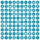 violet för sapphirine för 100 förstoringsapparatsymboler Royaltyfri Fotografi
