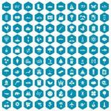 violet för sapphirine för 100 global uppvärmningsymboler Royaltyfri Fotografi