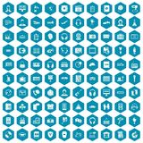 violet för sapphirine för 100 hörlurarsymboler Arkivbilder