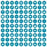 violet för sapphirine för 100 köttsymboler Arkivbilder