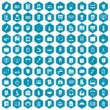 violet för sapphirine för 100 kontorssymboler Fotografering för Bildbyråer