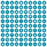violet för sapphirine för 100 lycklig barndomsymboler Arkivfoton
