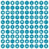 violet för sapphirine för 100 mammaledighetsymboler Royaltyfri Foto