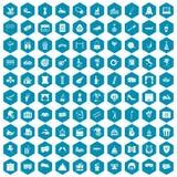 violet för sapphirine för 100 maskeringssymboler Fotografering för Bildbyråer