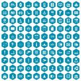 violet för sapphirine för 100 maskinvarusymboler Arkivfoto