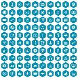 violet för sapphirine för 100 massmediasymboler Arkivbild