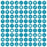 violet för sapphirine för 100 medicinsk treatmetsymboler Royaltyfri Bild
