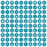 violet för sapphirine för 100 modesymboler Arkivfoton