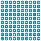 violet för sapphirine för 100 postsymboler Fotografering för Bildbyråer