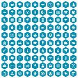 violet för sapphirine för 100 skogsarbetaresymboler Arkivfoton