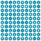 violet för sapphirine för 100 snösymboler Fotografering för Bildbyråer