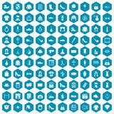 violet för sapphirine för 100 stylistsymboler Arkivfoton