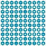 violet för sapphirine för 100 sweepstakesymboler Arkivfoto