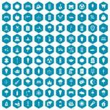 violet för sapphirine för 100 symboler för gatabelysning Royaltyfri Foto