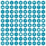 violet för sapphirine för 100 symboler för sommarferier Arkivfoto