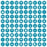 violet för sapphirine för 100 symboler för trädgårds- material Royaltyfri Foto