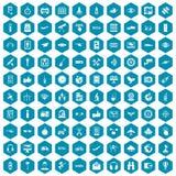 violet för sapphirine för 100 symboler för trådlös teknologi Royaltyfri Bild
