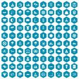violet för sapphirine för 100 symboler för vattensport Royaltyfria Foton