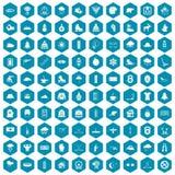 violet för sapphirine för 100 symboler för vintersport Royaltyfri Bild