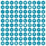 violet för sapphirine för 100 vattenrekreationsymboler Fotografering för Bildbyråer