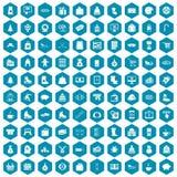 violet för sapphirine för 100 vintershoppingsymboler Fotografering för Bildbyråer