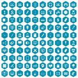violet för sapphirine för 100 webdesignsymboler Arkivfoton