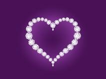 violet för vektor för bakgrundsdiamanthjärta royaltyfri illustrationer