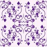 violet för vine för blom- druvamodell seamless vektor illustrationer