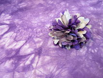 Violet fabric flower Royalty Free Stock Image