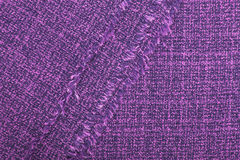 Violet fabric texture for background. Copy space royalty free stock photography