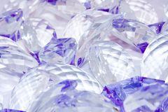 Violet facetes. On transparent glass Royalty Free Stock Photo