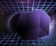 Violet Fantastic Space Abstraction Royalty Free Stock Image