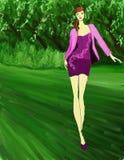 Violet Fashion púrpura Imagen de archivo