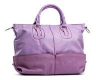 Violet female handbag Stock Photo