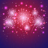 Violet firework Royalty Free Stock Photography