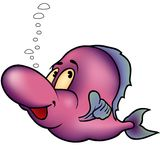 Violet Fish. Fish 03 Violet Fish - Highly detailed and coloured cartoon illustration Royalty Free Stock Photos