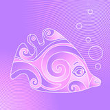 Violet fish Royalty Free Stock Photo