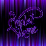 Violet flame. Divine energy.Transmutation. The Flame Of Saint Germain. Vector. stock illustration